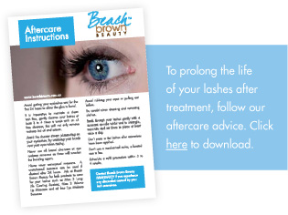 download our aftercare eyelash extensions instructions